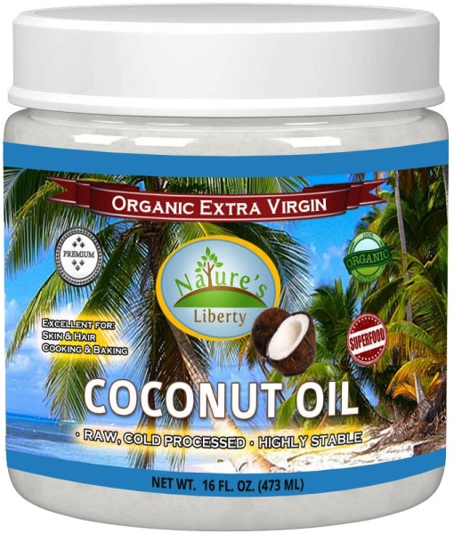Coconut Oil Bottle Front